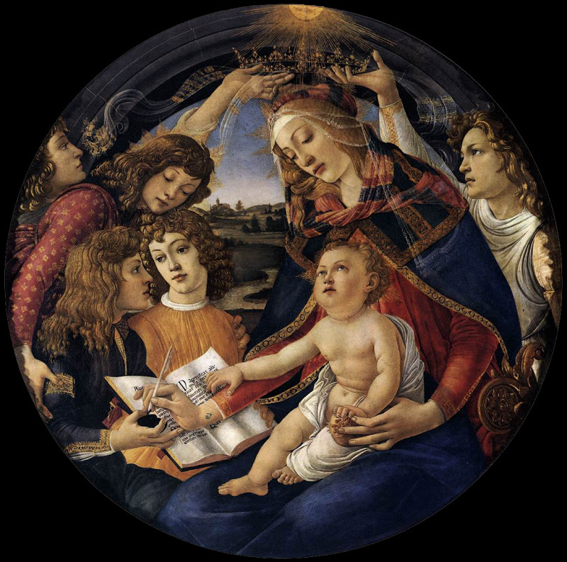 Our Lady of the Magnificat_BOTTICELLI, Sandro 2