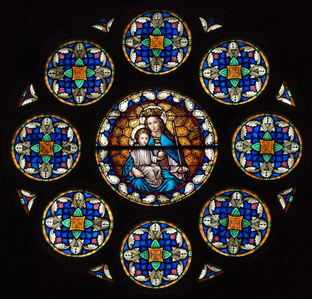 Madonna and Child_stained glass