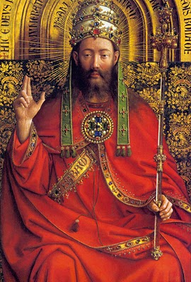 God Almighty from the Ghent Altarpiece_EYCK, Jan van