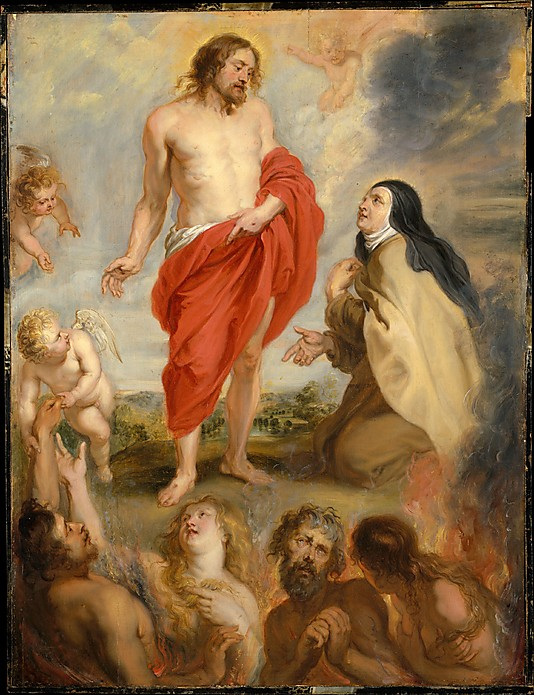 Rubens Workshop_S. Teresa of Avila interceding for souls in Purgatory_Met_1630-33