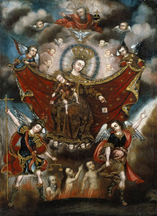 Virgin_of_Carmel_Saving_Souls_in_Purgatory_-_Circle_of_Diego_Quispe_Tito_-_overall2