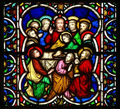 Last Supper_stained glass_Lawrence OP