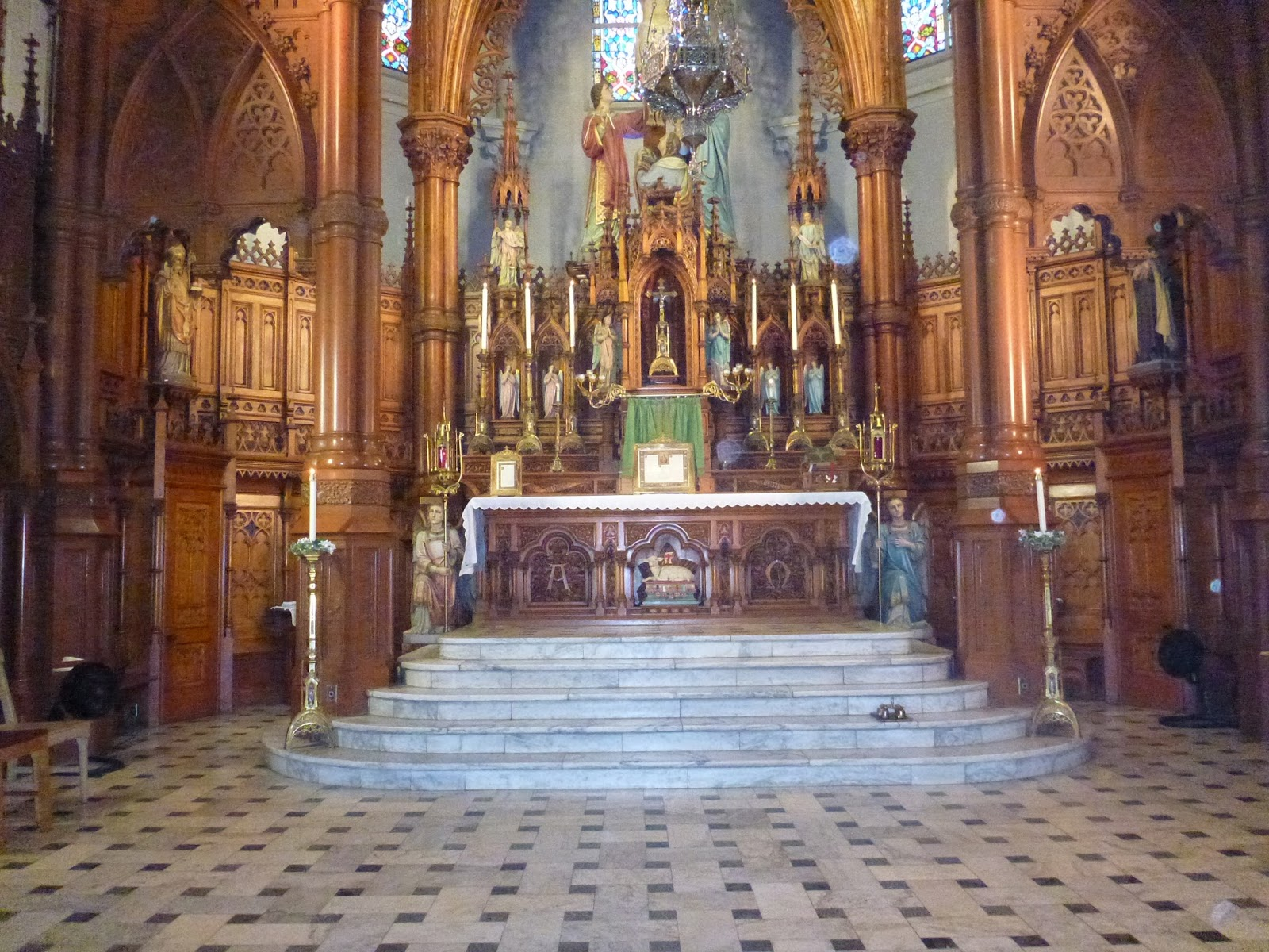 The High Altar And Other Altars Around Traditional Catholic Churches