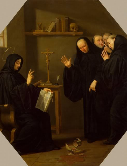 Champaigne_Philippe_de-ZZZ-Scene_from_the_Life_of_St_Benedict_The_Poisoned_Cup_of_Wine