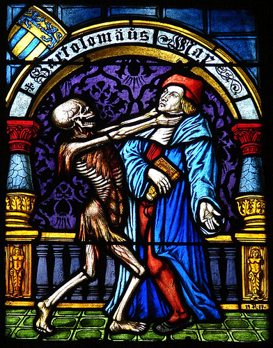 Death_Dance of_stained glass_detail