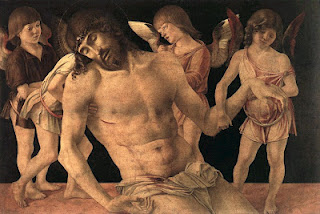 Giovanni Bellini_Dead Christ Supported by angels_ Rimini, Pinacoteca Comunale_c.1474