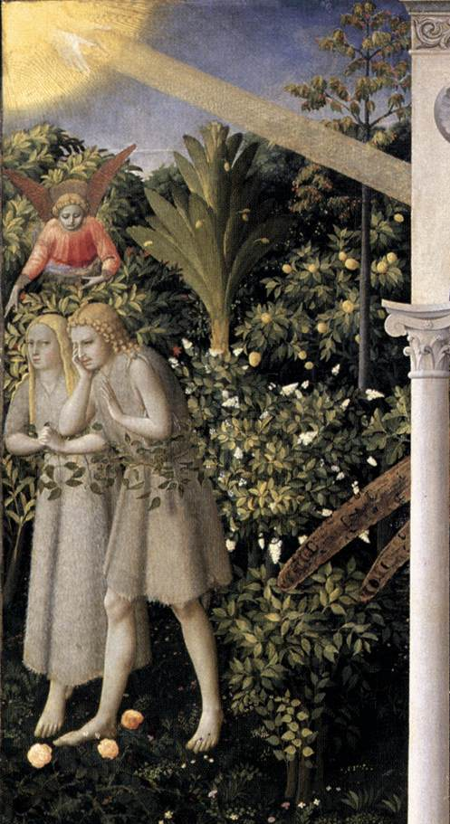 Prado Annunciation_Adam and Eve_det
