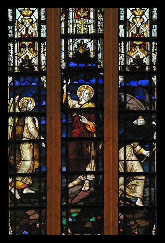 Temptation of Christ_Christ Dismisses the Devil_stained glass_Leeds Cathedral