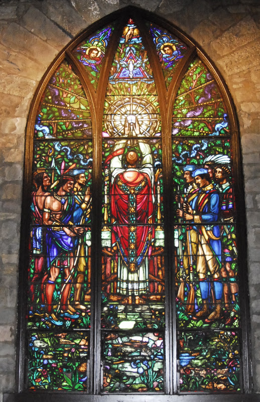 Mass During French-Indian War_St Peter Church_Brownsville_PA_stained glass