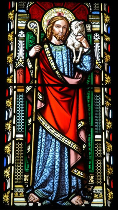Christ the Good Shepherd stained glass
