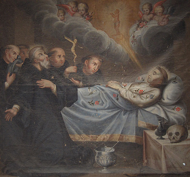 Death-of-St-Francis-of-Assisi-Evora-Portugal-Igreja-de-Sao-Francisco