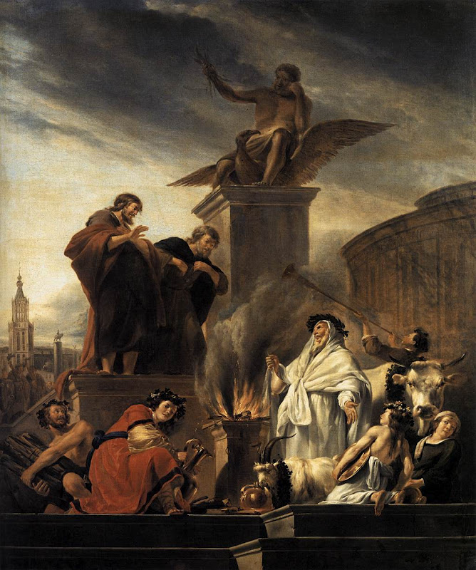 Paul and Barnabas at Lystra_BERCHEM, Nicolaes
