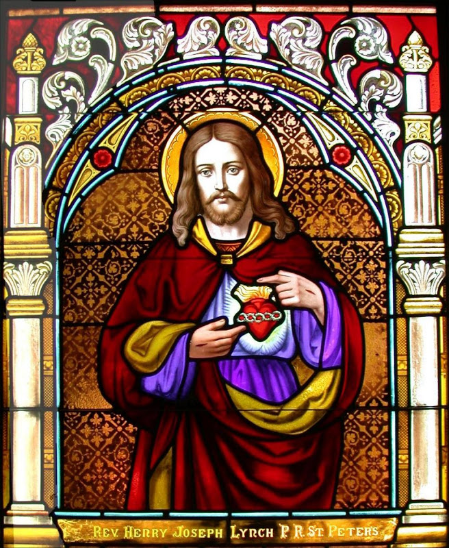 Sacred Heart_stained glass
