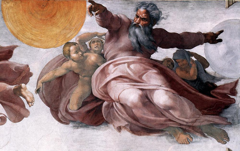 Creation of the Sun Moon and Planets_MICHELANGELO Buonarroti
