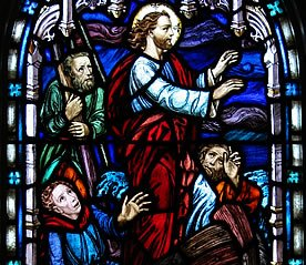 Jesus calming the storm_stained glass