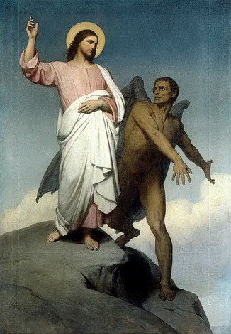Jesus tempted in the desert