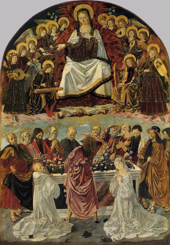 Lady of the Assumption Gives St Thomas Her Belt_BARTOLOMEO DELLA GATTA