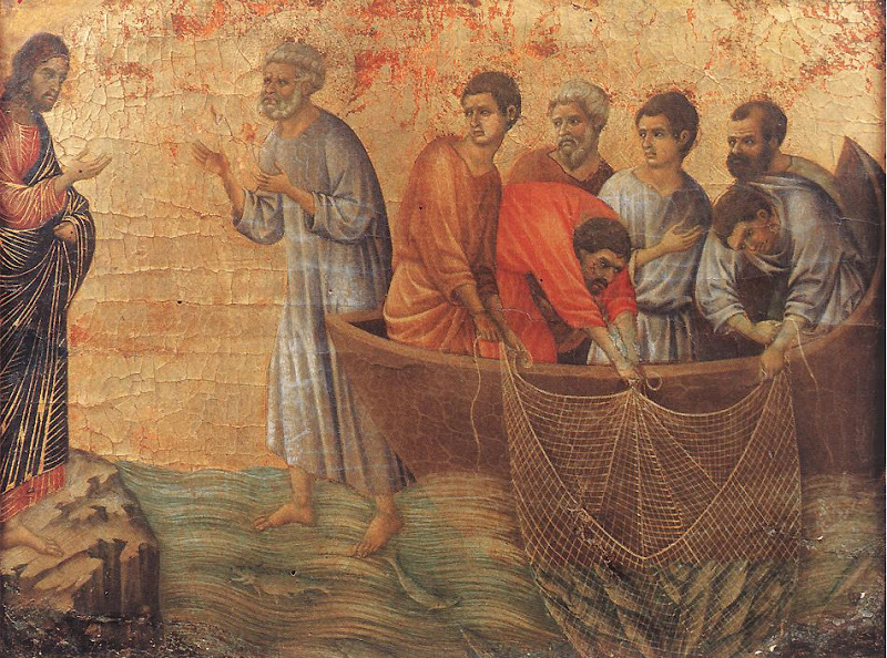 Resurrection_Appearence at Lake Tiberias_DUCCIO di Buoninsegna