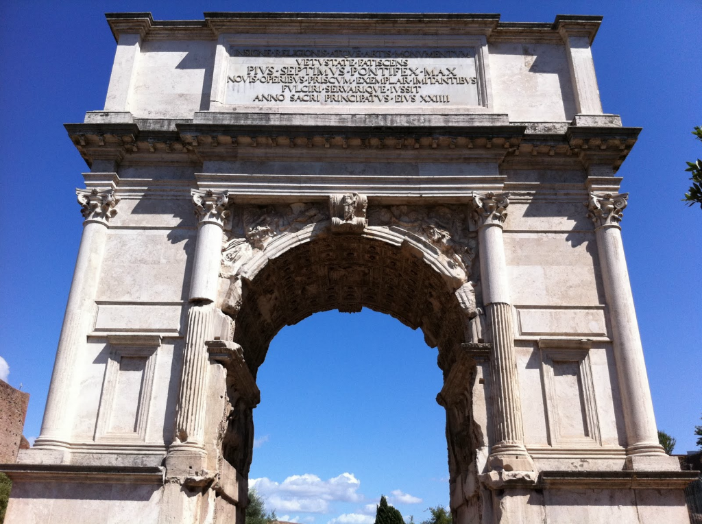 arch of titus The arch of titus ( italian : arco di tito latin : arcus titi ) is a 1st-century ad honorific arch, located on the via sacra , rome , just to the south-east of the.