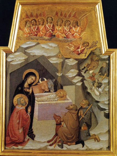Nativity and Adoration of the Shepherds_BARTOLO DI FREDI