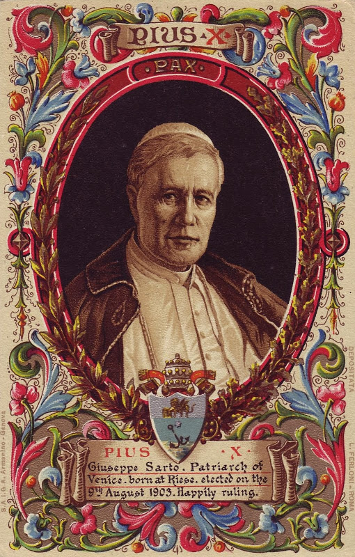 Pope Pius X_holy card