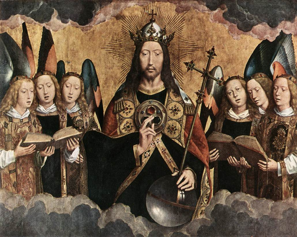 Christ surrounded by angels_Antwerp, Kininklijk Museum voor Shone Kunsten_1480s