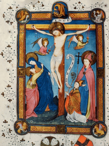 Crucifixion, illustration from the Missal of Master Pancratino, c. 1430 (vellum)