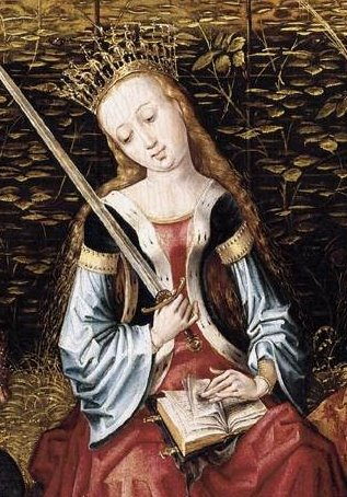 Elizabeth of Hungary detail_MASTER of Sainte Gudule