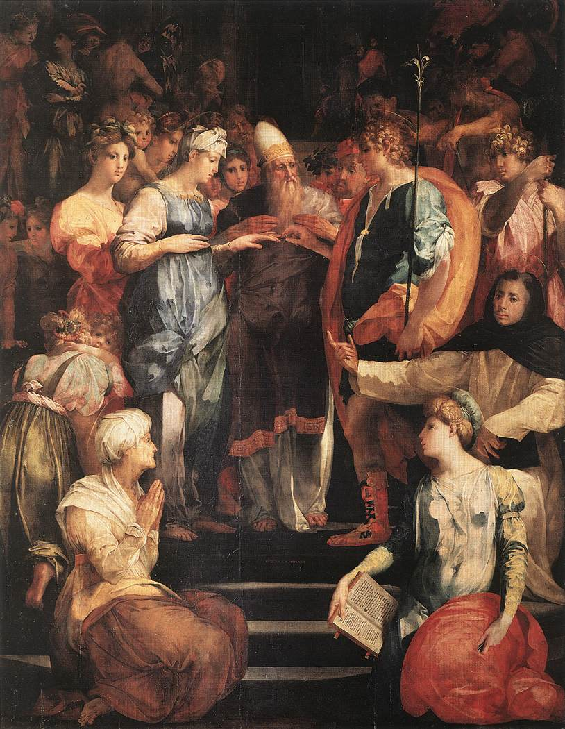 Rosso Marriage Of Virgin Florence S Lorenzo 1523