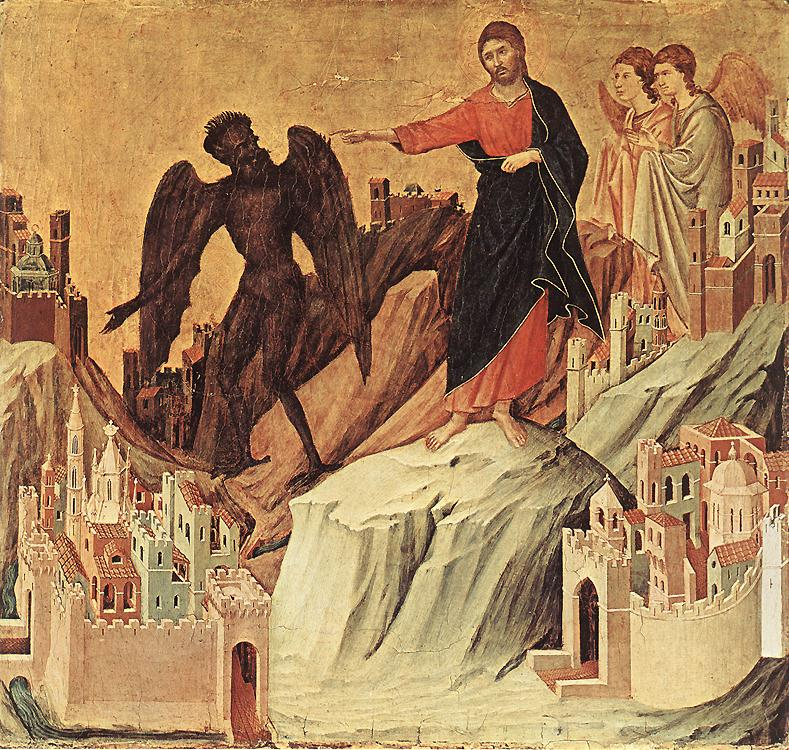 temptation of Christ on the Mount_DUCCIO di Buoninsegna