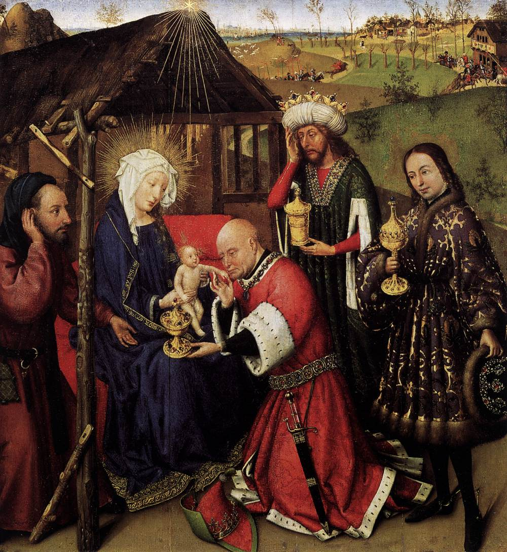 Jacques Daret_Magi_Altarpiece of the Virgin_Berlin, Staatliche Museen-1433-35