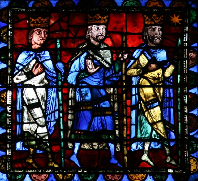 Journey of the Magi_stained glass_Chartres