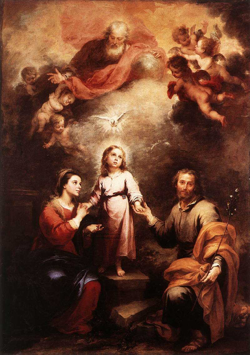 Murillo, God is our Father dans immagini sacre Murillo_2-Trinities_NGL_1675-82