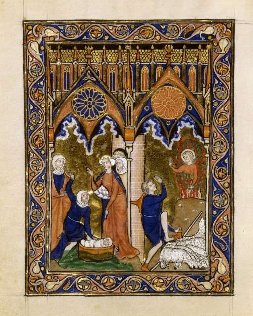Psalter of St. Louis_France (Paris)_ca. 1270_Finding of Moses & Burning Bush_BNF_Latin 10525, fol.29v