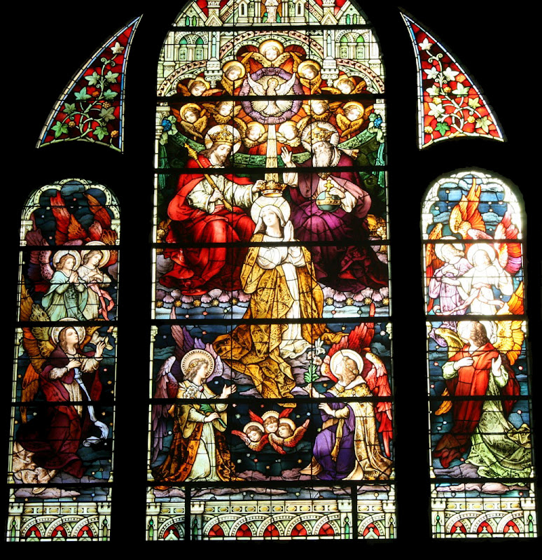 Coronation of the Blessed Virgin Mary_stained glass