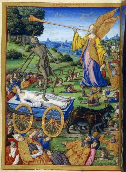 Master of the Triumphs of Petrarch_Rouen_1503_BNF_Francais 594_178v_Allegory-vitory of Fame