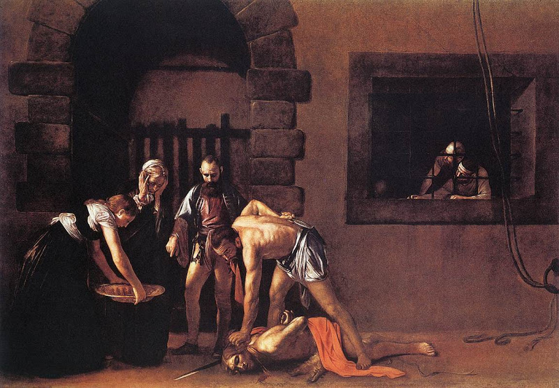 John the Baptist_beheading_CARAVAGGIO