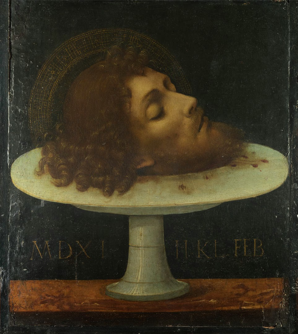 Full title: The Head of Saint John the BaptistArtist: ItalianDate made: 1511Source: http://www.nationalgalleryimages.co.uk/Contact: picture.library@nationalgallery.co.ukCopyright © The National Gallery, London