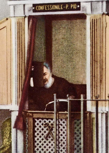 Padre Pio In The Confessional